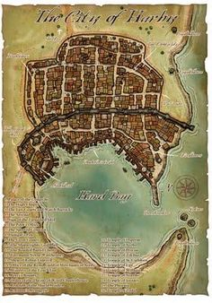 A city map for D&D or Pathfinder