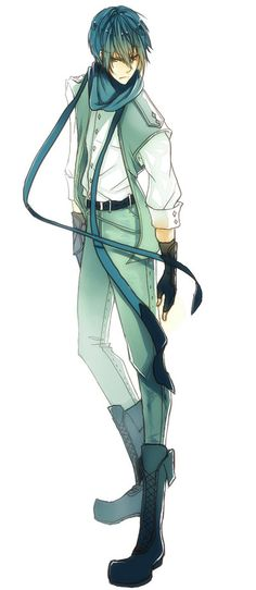 Glaceon (does anyone else think this looks somewhat like the vocaloid KAITO?)<------ maybe Kaito is cosplaying?