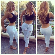 """Loving my """"White Water Rafting Jeans"""" they fit perfect, the only jeans that fit my waist and hips perfect ! Miss Nikki Baby, Baby Momma, Nikki Mudarris, Only Jeans, Hottest Female Celebrities, Love N Hip Hop, Ebony Women, Fashion Updates, Fashion Ideas"""