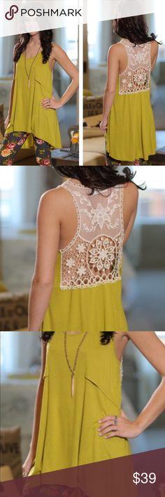 Spotted while shopping on Poshmark: 🆕Chartreuse Lace Sleeveless Tunic! #poshmark #fashion #shopping #style #Infinity Raine #Tops