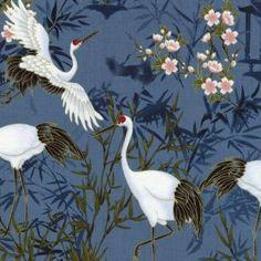 Kabuki Cranes - Timeless Treasures Tissus