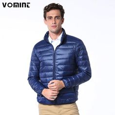 Vomint Brand New Casual Ultralight Mens Duck Down Jackets Autumn Winter Jacket Men Lightweight Jacket Solid Color Coat… #jackets #fashion