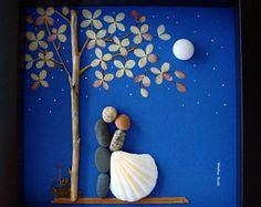 Kiesel Kunst Hochzeit Geschenk einzigartige Hochzeit Geschenk - personalisierte paar Geschenk-Hochzeit Geschenk-Verlobung Geschenk - Braut und Bräutigam Geschenk-Pebble Art