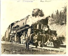 Engineer Boyle with engine 4010 at Stampede circa 1940.