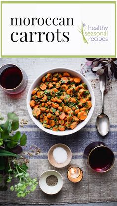 These healthy Moroccan Carrots are a favorite flavorful side dish. They are loaded with garlic, vinegar and spice! Naturally gluten free and paleo! Healthy Side Dishes, Vegetable Side Dishes, Side Dish Recipes, Vegetable Recipes, Vegetarian Recipes, Healthy Recipes, Carrot Recipes, Whole Food Recipes, Cooking Recipes