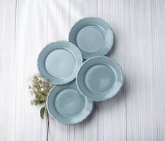 Take a look at this Blue Euro Ceramica Savannah Salad Plate - Set of Four today! White Dinner Plates, Dinner Plate Sets, Easter Table Settings, Melamine Dinnerware, Appetizer Plates, Organic Shapes, Salad Plates, Savannah Chat, The Hamptons