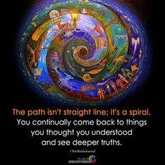 A spiral way Spiritual Enlightenment, Spiritual Wisdom, Spiritual Awakening, Spiritual Reality, Wisdom Quotes, Life Quotes, Zen Quotes, Meditation Quotes, Mindfulness Meditation