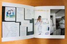 The coffee table book is sleek and portable. Carry around your wedding to show friends and loved ones on the go.
