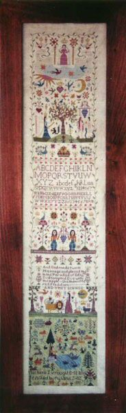 And They Sinned from Examplar Dames Design Co. Vilma Becklin - Traditional Stitches