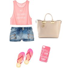 A fashion look from January 2015 featuring Victoria's Secret tops, Balmain shorts and Victoria's Secret PINK flip flops. Browse and shop related looks.