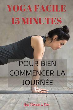 Le matin, on a besoin de s'activer (et vite!) si on ne veut pas se laisser tenter par notre lit douillet qui crie notre nom. Cette séance de yoga facile de 15 minutes est parfaite pour nous aider à nous réveiller tout en douceur, mais aussi à nous donner l'énergie nécessaire pour affronter la journée! #yogaenfrançais #yogadumatin #yogafacile #yogapourdébutants