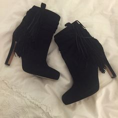 Jean Michel Cazabat suede fringe ankle boots Jean Michel Cazabat suede fringe ankle boots - worn twice! Soft real leather perfect for any outfit! Jean-Michel Cazabat Shoes Ankle Boots & Booties