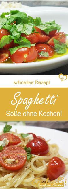 geniales Rezept für Spaghetti mit Tomaten und Blauschimmel Käse – Soße ohne Kochen