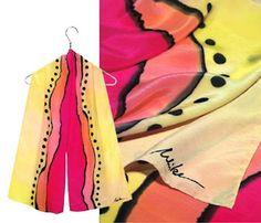 designer hand painted silk scarves - Google Search Ulrike Scarves