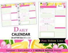 Lilly Inspired DailyCalendar Planner Refills by myunclutteredlife