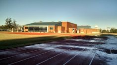 Knox College Fieldhouse from the track. Photo taken by Amy Fort on March 11, 2015.