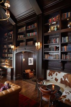 Antique & modern library/ Francesca Owings Interior Design. Ashely Avila photo.