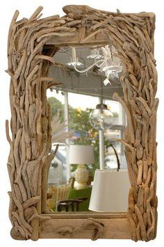 Antiguos espejos Espejo Driftwood eclécticos
