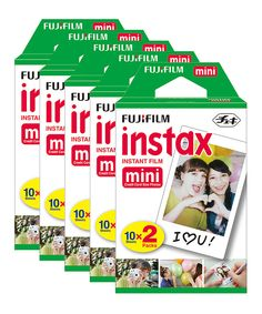 Take a look at this Instant Print Film for Fujifilm Instax Mini Camera - Set of Five on zulily today!