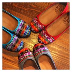 Inca Peru Patterned Ballet Wedge Shoe -- so cute for fall! These are handmade in Peru and fairly traded. #fairtrade #style #shoes
