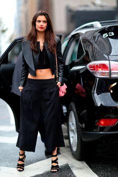 The Front Row View: Fashion Week Street Style: Sara Sampaio