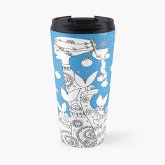 Promote | Redbubble Travel Mug, Black And White, Mugs, Wall Art, Tableware, Shirts, Dinnerware, Black N White, Black White