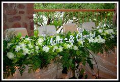 Ivory and green Bushveld Wedding  - Main table