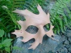 Unfinished Leather oak Leaf Mask by SkinzNhydez on Etsy, $30.00