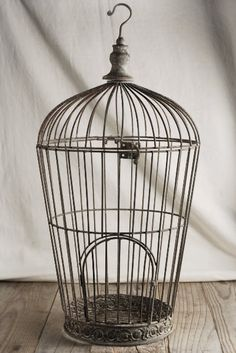 Distressed Wire Birdcage 21in