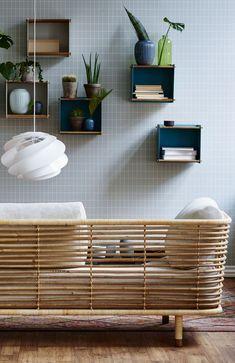 Cane-line Sense 3 Seater Sofa Natural Rattan Bamboo Furniture, Modern Furniture, Furniture Design, Home Living, Living Room Decor, Small Living, Turbulence Deco, Interior Architecture, Interior Design