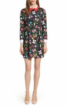 Ted Baker London Hampton Embellished Collar Floral Dress