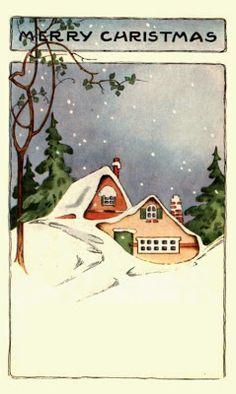 1910s Vintage Christmas Postcard