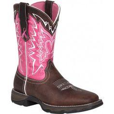 Durango Lady Rebel Women s Dark Brown w  Pink Breast Cancer Awareness  Square Toe Western Boot c2a8df0175