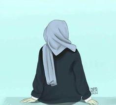 Be positive thinking Hijabi Girl, Girl Hijab, Hijab Dp, Muslim Girls, Muslim Women, Girl Cartoon, Cartoon Art, Tmblr Girl, Cover Wattpad