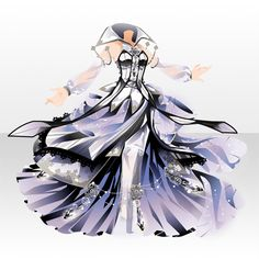 Witch who Reels Thread Fashion Mode, Fashion Art, Fashion Design, Anime Outfits, Cool Outfits, Design Textile, Anime Dress, Cocoppa Play, Fantasy Dress