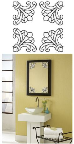 Medici Corners Clear Stained Glass Wall Sticker   Wall Sticker Outlet