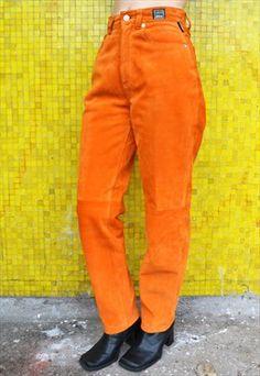 8a7b04c0f 90 s Vintage High Waist Denim Orange Versace Jeans
