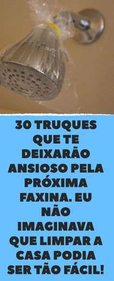 30 truques que te deixarão ansioso pela próxima faxina. Eu não imaginava que limpar a casa podia ser tão fácil! House Cleaning Tips, Cleaning Hacks, Everyday Hacks, Flylady, Concrete Crafts, Home Management, How To Make Diy, Home Hacks, Housekeeping