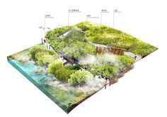 """Sasaki's """"Forest City"""" Master Plan in Iskandar Malaysia Stretches Across 4 Islands,Section Parallel-Line Projection Diagram. Image Courtesy of Sasaki Associates"""