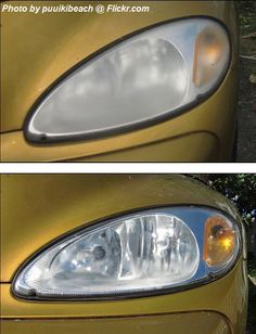 DIY-Girl shares information on how to clean headlights with headlight restoration kits Cleaning Headlights On Car, How To Clean Headlights, Car Cleaning, Cleaning Recipes, Pula, Foggy Headlights, Headlight Cleaner, Headlight Restoration, Car Fix