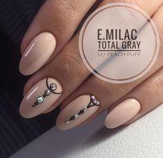 Nude Nails, Nail Manicure, My Nails, Acrylic Nails, Pink Nails, Geometric Nail, Minimalist Nails, Pretty Nail Art, Dream Nails
