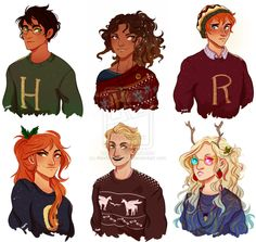 Merry Christmas by AlexMCopeman - I love that people have started drawing not just Hermione as POC but Harry too. I'd have to do another thorough reread, but from what I remember it's open to that interpretation