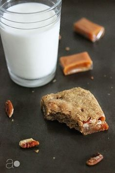 ambrosia: Salted Caramel and Pecan Blondies