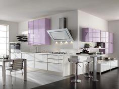 rosa kche von cucine lube pinklavenderpurple modern kitchen by cucine lube