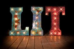 Three Letter Package, Lighted Metal MARQUEE SIGN Marquee Light Marquee  Letter Fixture, Marquee Letters, Marquee Signs