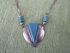 Jakob Bengel Hammered Pendant necklace