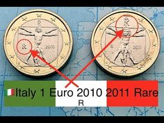 🇮🇹Italy 1 Euro 2010,2011 RARE euro coins {R} - YouTube Sell Old Coins, Seven Archangels, D Mark, Euro Coins, Valuable Coins, Coin Collecting, Give It To Me, Projects To Try, Italy