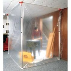 ZipWall Barrier System | the zipwall slp6 includes 6 spring loaded poles 6 grip disk and 6 ...