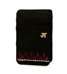 JT Magic Wallet Rural Color: Golden and Red #couro #bordado #fashion #accessories #moda #style #design #acessorios #leather #joicetanabe #carteira #carteiramagica #courolegitimo #wallet