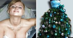 [Pics] These Wedding Dresses Made Guests Truly Uncomfortable Bride's Christmas tree dress Funny Wedding Dresses, Wedding Gowns, Christmas Tree Dress, Xmas Tree, Graffiti Designs, Before Marriage, Girl Thinking, Wedding Humor, Girls Dream
